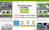 screenshot http://www.serre-en-direct.fr/ Vente de serre de jardin pour particulier et professionnel