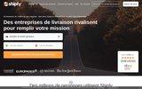screenshot http://www.shiply.com/fr/ La place de marché en ligne Shiply