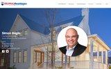 screenshot http://www.simonbegin.com simon b�gin courtier immobilier qu�bec re/max