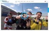 screenshot http://www.skydivecerfontaine.be/ Saut en parachute à Cerfontaine