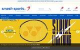 screenshot http://www.smash-sports.fr/ smash - le badminton par passion