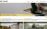 screenshot http://www.sodipri.fr sodipri : granulat et sable pour sol resine, filtration, fonderie et sablage.