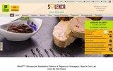 screenshot http://www.solenca.com hôtel restaurant solenca