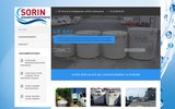 screenshot http://www.sorin-assainissement.fr/ SORIN Constructions