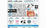 screenshot http://www.stickboutik.com/ stickboutik: des stickers muraux géants pas comme les autres!