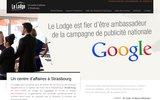 screenshot http://www.strasbourg-lodge.com le lodge centre d'affaires strasbourg