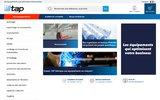 screenshot http://www.tap-shop.fr TAP France, fabricant industriels