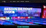 screenshot http://www.teqbowling.fr La salle de jeux Teq Bowling.