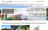 screenshot http://www.terrain-ecohabitat.com vente terrain cannes, achat terrain cannes
