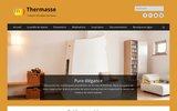 screenshot http://www.thermasse.fr thermasse, concepteur fabricant de poêle de masse