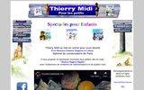 screenshot http://www.thierrymidi.com thierry midi et ses spectacles pour enfants