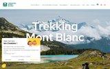 screenshot http://www.trekking-mont-blanc.com/ randonnée mont blanc