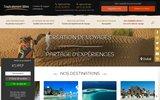 screenshot http://www.tropicalement-votre.com/ Voyages dans les îles