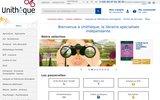 screenshot http://www.unitheque.com librairie spécialisée unitheque