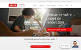 screenshot http://www.velux.fr/ achat de fenêtres de toit et stores chez velux france