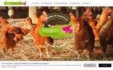 screenshot http://www.vergers-boismace.com les vergers du bois macé - fruits et légumes 44