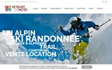 screenshot http://www.versant-nord.com/ location ski la clusaz profitez de vos vacances