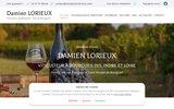screenshot http://www.vinsdamienlorieux.com Damien Lorieux