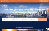 screenshot http://www.visafirst.com organisation du visa de voyage