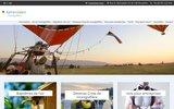 screenshot http://www.vol-montgolfiere.be vols en montgolfieres