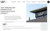 screenshot http://www.vp-immobilier.fr V&P Immobilier