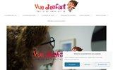 screenshot http://www.vuedenfant.fr opticien spécialiste lunettes bébé enfant adolesce
