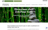 screenshot http://zenpourvous.org zen pour vous