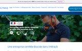 screenshot https://biofrance34.com/ Nettoyage RAPIDE après décès & syndrome Diogène Béziers Montpellier 24h/24