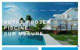 screenshot https://crea-piscine.fr Piscines sur-mesures
