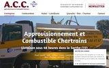 screenshot https://www.acc-combustibles.com/ ACC, livraison gasoil fuel bois charbon dans la Sarthe 72