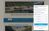 screenshot https://www.canoelocationardeche.fr/ Canoë Location Ardèche