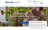 screenshot https://www.christellehyver-allianz.com/ agent d'assurances Allianz à Jonzac 17500