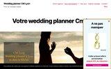 screenshot https://www.cm-lyon.fr organisation de mariage