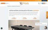 screenshot https://www.cofradis-collectivites.fr/ vente de mobilier urbain