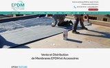 screenshot https://www.epdm-distribution.fr/ EPDM Distribution