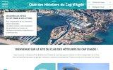 screenshot https://www.hotelcapdagde.com/ Club hôtelier du Cap d'Agde