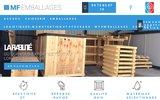 screenshot https://www.mfemballages.fr/ MF Emballages: L'emballage industriel en bois en Drôme