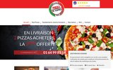 screenshot https://www.pizzadinapoli-saintry.fr/ livraison de pizza 7/7