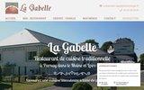 screenshot https://www.restaurant-lagabelle.com/ restaurant de cuisine traditionnelle et repas de groupes à Parnay 49730