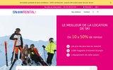 screenshot https://www.snowrental.com/ location de skis et snowboards discount