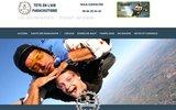 screenshot https://www.teteenlair-parachutisme.com Saut en parachute en région PACA