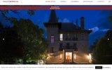 screenshot https://www.villa-morelia.com/ Chateau hotel 4 etoiles à Barcelonnette