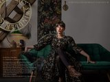 Illustration, lettering, hand-lettering, black and white, rotring, flowers, studio, graphic design