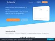 Apercite.fr Ce site utilise les services de thumbshot Apercite.fr