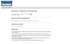Détails : Les codes postaux des communes belges
