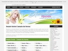 Aperçu du site Annuaire.feminin.fr