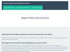 Appartement Hotel à Aix les Bains