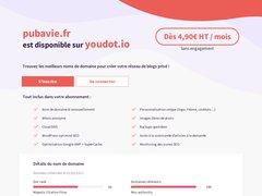 Aperçu du site Pubavie.fr
