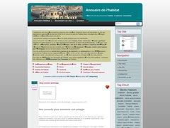 Aperçu du site Annuaire-habitat.eu
