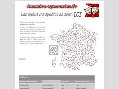 Aperçu du site Annuaire-spectacles.fr